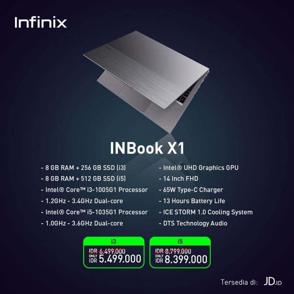 Infinix INBook X1 Pro Spesifikasi dan Harga